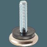 "FMP 121-1004 Metal 15/16"" Base with Black Plastic Cushion Glide 1/4-20 thread"