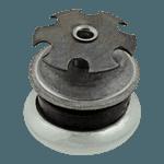 "FMP 121-1027 1-1/16"" Swivel Base Flush Glide For 3/4"" OD round tubular leg"