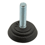 """FMP 121-1120 Non-Slip 1-1/8"""" Black Neoprene Base Glide 3/8-16 thread"""