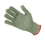 FMP 133-1451 KutGlove Cut Resistant Safety Glove by Tucker Safety Products Small  red wristband