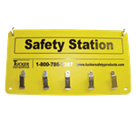 FMP 133-1596 Cut Protection Safety Station Rack Used to hang safety items such as cut gloves and aprons
