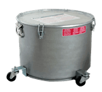 FMP 133-1604 Safety Filter Pot with Lid by Miroil For fryers with up to 55 lb oil capacity
