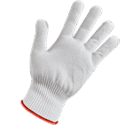 FMP 133-1731 KutGlove Cut Resistant Safety Glove by Tucker Safety Products Small  red wristband