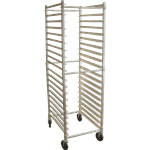 "FMP 133-1811 Rack Cart Aluminum  stores up to 20 full-size 18"" by 26"" sheet pans"