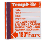 FMP 138-1258 Dishwasher Temperature Label by Taylor 180*F target temperature