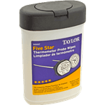 FMP 138-1291 Thermometer Probe Wipes by Taylor Tub of 70 wipes