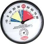 FMP 138-1301 Cooler/Freezer Thermometer by Cooper-Atkins -10* to 80*F temperature range