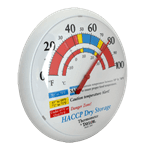 """FMP 138-1312 Dry Storage Wall Thermometer 13-1/4"""" easy-to-read dial face"""