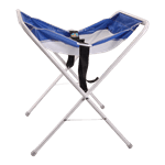 FMP 141-1186 Infant Seat Kradle by Koala Kare White legs with white and blue mesh sling