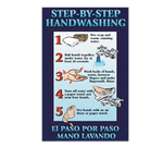 FMP 142-1497 Step-By-Step Handwashing Poster