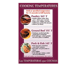 FMP 142-1500 Cooking Temperatures Poster