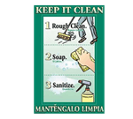 FMP 142-1502 Keep It Clean Poster