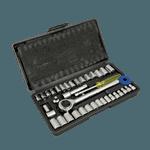 FMP 142-1744 Socket Set Complete 40 piece socket drive kit with black plastic outer case
