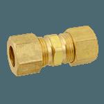 """FMP 158-1039 Brass Coupling 3/8"""" OD tubing"""