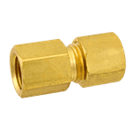 "FMP 158-1048 Brass Female Connector 1/4"" OD tubing x 1/8"" NPT"