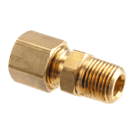 "FMP 158-1067 Brass Male Connector 1/4"" OD tubing x 1/8"" NPT"