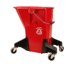 FMP 159-1102 Red Plastic Mop Bucket