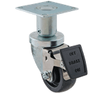 """FMP 175-1077 3"""" Swivel Plate Caster with Brake"""
