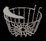 "FMP 190-1364 Wire Basket with Splash Guard 6-1/2"" top diameter"