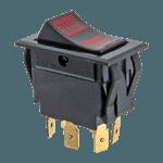 FMP 220-1386 Lighted Rocker Fan Switch DPDT