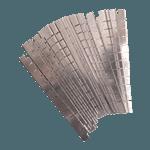 "FMP 224-1154 Blade Kit 1/4"" dice  22 blades"
