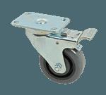 "FMP 229-1188 Medium-Duty 3 1/2"" Swivel Plate Caster with Brake 880 lb load capacity per set of 4"