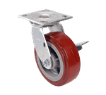 """FMP 239-1015 6"""" Swivel Plate Caster with Brake"""