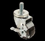 "FMP 245-1025 3"" Standard-Duty Threaded Stem Caster with Brake Blue polyurethane wheel"