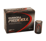 FMP 253-1300 Duracell Procell D Batteries Box of 12