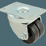 """FMP 256-1569 Heavy-Duty Two Wheel Swivel Plate Caster 2"""" OD wheels"""