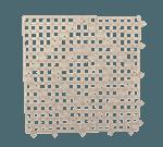"""FMP 280-1412 Versa-Mats Shelf Liner by San Jamar 12"""" x 12"""" clear"""