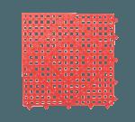 """FMP 280-1414 Versa-Mats Shelf Liner by San Jamar 12"""" x 12"""" red"""