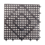 "FMP 280-1487 Versa-Mats Shelf Liner by San Jamar 12"" x 12"" black"