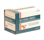 FMP 280-1540 Alcohol Wipes Box of 50