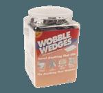 FMP 280-1709 Wobble Wedge Tapered Installation Shim Jar of 300 Flexible soft vinyl black wedges