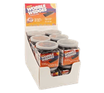 FMP 280-1731 Wobble Wedge Tapered Installation Shim POP Display Flexible soft vinyl black wedges  12 jars of 30