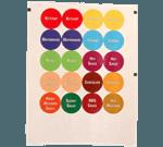 FMP 280-1772 Identification Cap Labels 3 sheets of 24