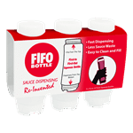 FMP 280-1819 FIFO Squeeze Bottles Includes a point-of-purchase display box of 3 squeeze bottles