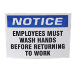 FMP 280-1857 Must Wash Hands Label Sign Pack of 10