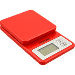 FMP 280-2104 Mini Digital Kitchen Scale by Taylor Red plastic
