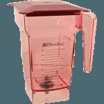 FMP 541-1001 4-Sided Jar with Lid 75 oz