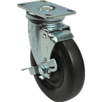 """FMP 547-1008 5"""" Swivel Plate Caster with Brake"""