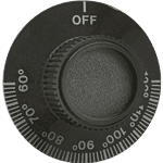 """FMP 547-1013 Thermostat Dial Flat down in the """"Off"""" position"""
