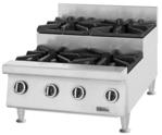 Garland US Range UTOG24-SU4 4 Burner Countertop Gas Hotplate / Range with Manual Controls - 30,000 BTU