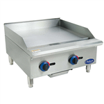 Globe C24GG 24'' Countertop Gas Griddle with Manual Controls - 60,000 BTU