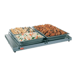 "Hatco GRS-66-B Glo-Ray® Aluminum and Stainless Steel 66""W x 7.75""D Heated Shelf Food Warmer - 120 Volts / 325 Watts"