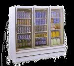 Howard-McCray GSR75BM 78.00'' White 3 Section Sliding Refrigerated Glass Door Merchandiser