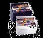 Howard-McCray SC-OS30E-4C-B-LED 51.00'' Black Horizontal Air Curtain Open Display Merchandiser with 3 Shelves