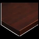 JMC Furniture 24 ROUND BEECHWOOD PLANK DARK MAHOGANY Table Top