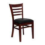 JMC Furniture ACABBO WOOD CHAIR DARK MAHOGANY Acabbo Side Chair